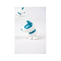 Chien Pitty turquoise tirelire