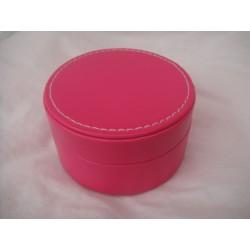Boîte ronde glossy fuchia
