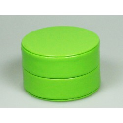 Boîte ronde glossy lime