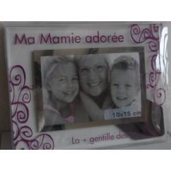 "Cadre verre ""mamie adorée"""