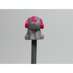 Chien Billy fuchsia crayon