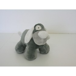 Chien Billy blanc peluche 18cm