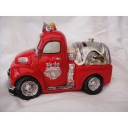 Camion pompier tirelire