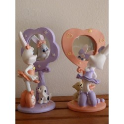 Lapin bunny fille miroir