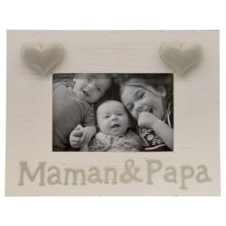 Cadre coeur maman & papa