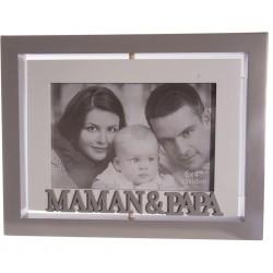 """Cadre """"maman & papa"""""""