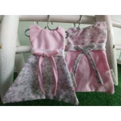 Robe rose/fleuri