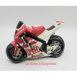 Moto de course rouge tirelire